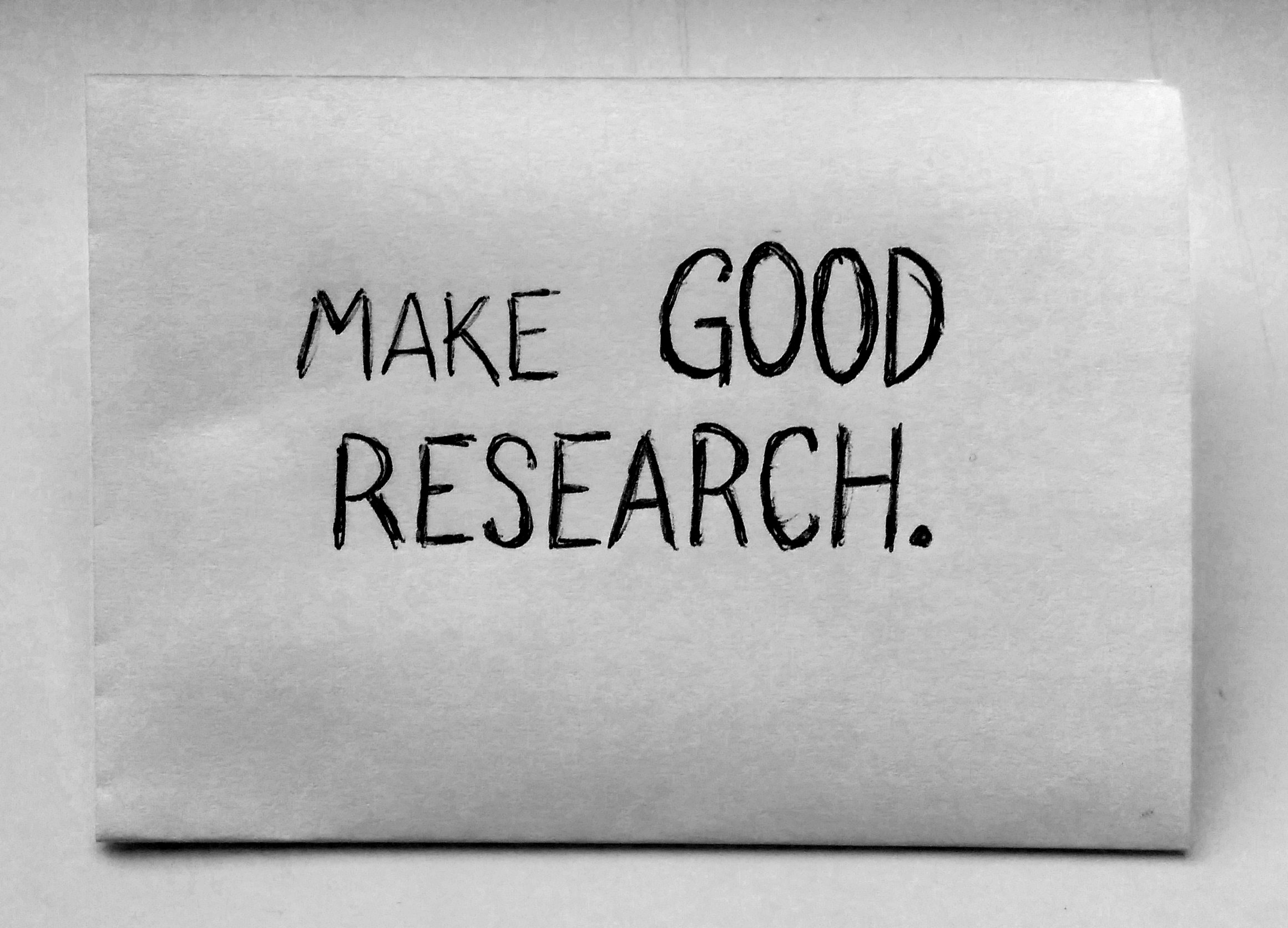 Make good research.
